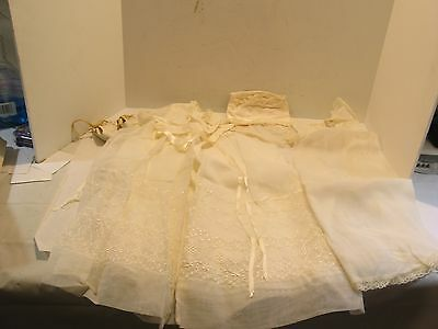 Antique Vintage Clothes Baby Dress Slips Christening, Dress, Cover-Up, Hat,Shoes