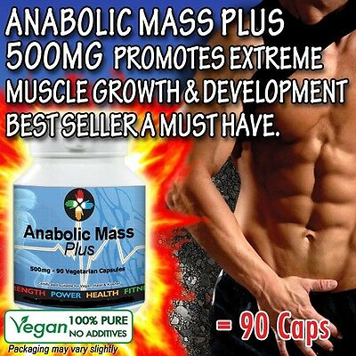 Anabol Mass Bodybuilding Testosterone Muscle Fuel Gains Non Steroid Genuine