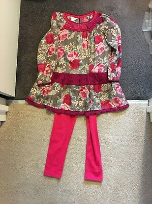 Girls Monsoon Top And Leggings Outfit Size 6-7 Years