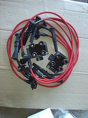 Ford Mustang Power Kit Super Edis Coils (2) + 8 Spark Plug Wires 9 mm
