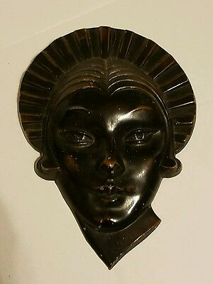 VERY RARE 1930 SIGNED FRANKART Female Mask Art of Sonja Hennie Deco Nude EX+