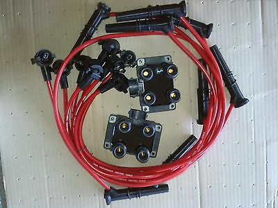 Ford Mustang Power Kit Super Edis Coils (2) + 8 Spark Plug Wires 8 mm