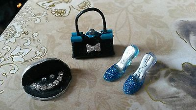 1:12th scale~LADIES SHOES~ BAG~JEWELLERY DISPLAY~ hand made by suey