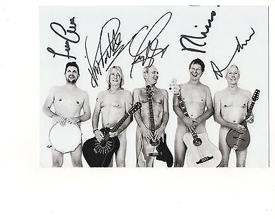 STATUS QUO AUTHENTIC SIGNED 6x8 GROUP PHOTO     SIGNED BY WHOLE BAND     TO JOHN