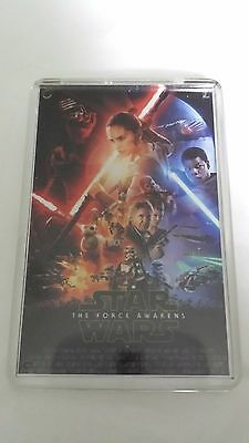 Star Wars The Force Awakens Ford Hamill Fisher movie poster fridge magnet New