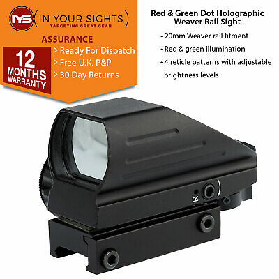 Holographic red and green dot sight / Weaver rail rifle sight / Red dot sight