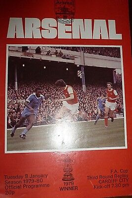 2 Arsenal Football Programmes From 1980'S