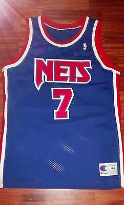 Kenny Anderson authentic jersey New Jersey Nets Nba Throwback SIGNED!!!