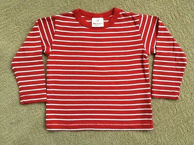 Hanna Andersson Organic cotton Tee Red stripe Size 100 US 4 EUC