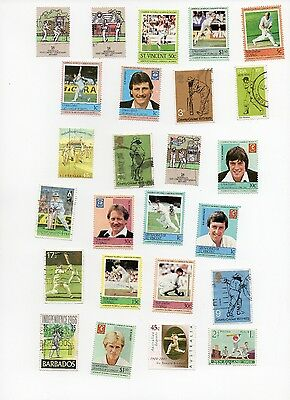 Cricket on Stamps 25 All Different and Off Paper