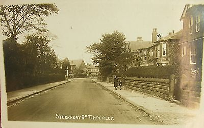 Tranquil Stockport Road Timperley Altrincham Cheshire 1922 Rp Pc