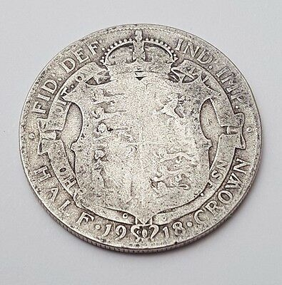 1918 - Silver Coin - Half Crown - Great Britain - King George V - English UK