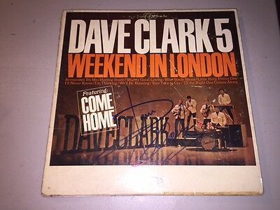 DAVE CLARK Autographed Signed WEEKEND IN LONDON Album LP