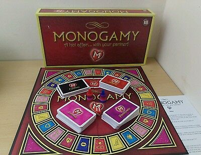 Monogamy Board Game for lovers Valentine's intimate saucy passionate fantasy