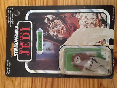 vintage star wars ROTJ Chief Chirpa Carded Figure