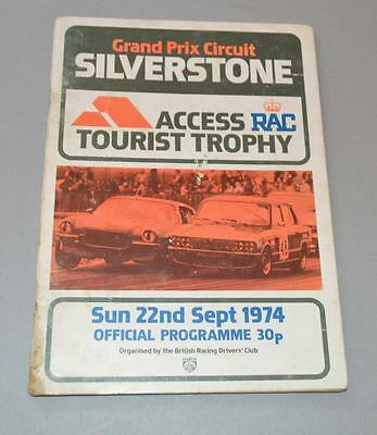 Old Silverstone Motor Racing Programme - Access RAC Trophy 22nd September 1974.