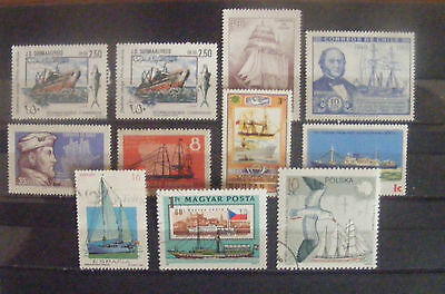 F014 - 11 timbres (ships)