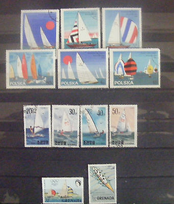 F013 - 11 timbres (ships)
