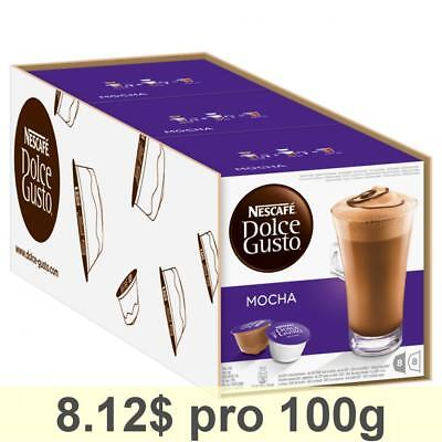 Nescafé Dolce Gusto Mocha, Pack of 3, 3 x 16 Capsules 24 Servings