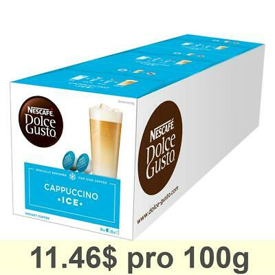 Nescafé Dolce Gusto Cappuccino Ice, Pack of 3, 3 x 16 Capsules 24 Servings