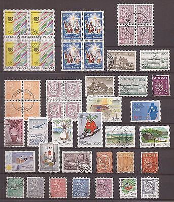 Finland - All In Blocks Of 4 Stamps - Lot