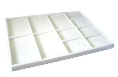 White Plastic Artists Flat Well Paint Palette Rectangular 140 mm x 195 mm