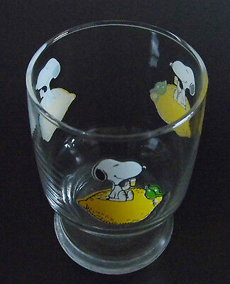 Vintage Snoopy Lemon Drinking Glass - Previously Used For Display