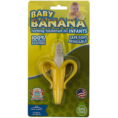 Baby Banana Teething Toothbrush for Infants and Toddlers | Ships from USA