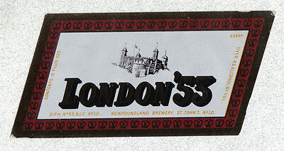 Beer label - Canada - London '53 - Newfoundland Brewery - St. John's