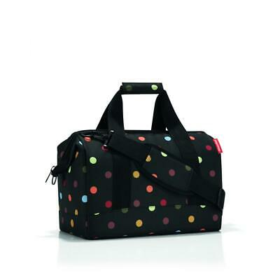 reisenthel Allrounder M Travelling Doctors and Sports Bag Black with Dots MS7009