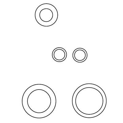 WMF O-Ring Set Kombi Outlet ECCO 1000 Accessories for Coffee Machines 3370062395