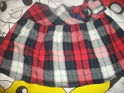 Girls Tartan  Skirt by GeorgeAge 3-4 with elasticated back in vgc
