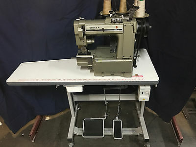Singer 302 Twin Needle Cylinder Arm Heavy Duty Industrial Sewing Machine