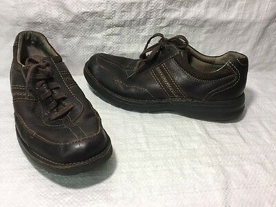 Clarks 82469 Casual Lace Up Brown Leather Oxfords Men's 9 M EUC
