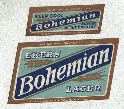 Beer label - Canada - Ekers Bohemian Lager - Montreal, Quebec