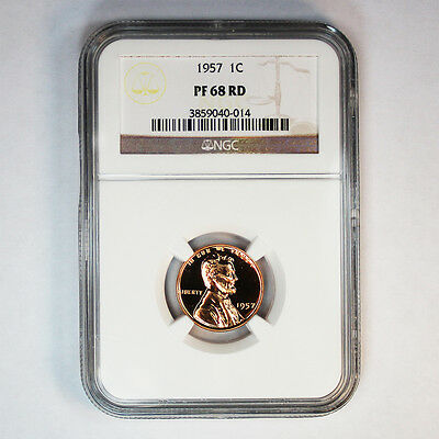 1957 NGC PF 68 RED  Lincoln Wheat Cent (150)