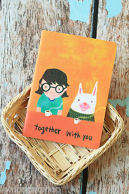 With You AOZ Cartoon Notebook cute blank lined pocket memo mini school note
