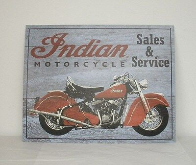 "Indian Motorcycle ""Auth Sales & Service"" Metal Sign (2869902) NEW"