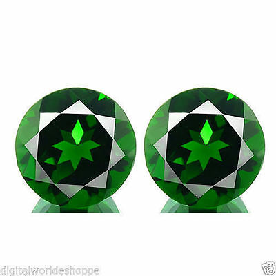 1.10Cts SUPREME GRADE Gem - Natural Russian Emerald CHROME DIOPSIDE 5mm 2Pc WZ1