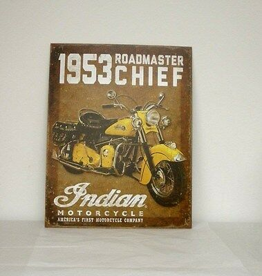 "Indian Motorcycle ""1953 Roadmaster"" Metal Sign (2869903) NEW"