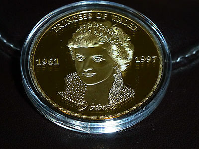 Princess Diana Commemorative Gold Clad Coin Princess Of Wales Englands Rose