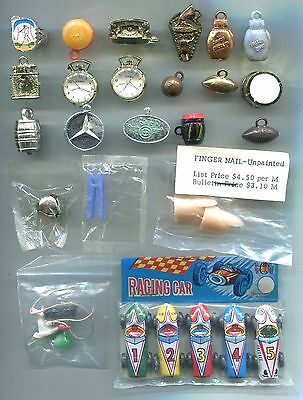 Gumball Charm Cracker Jack EPPY sports racing cars boxing gloves flicker ring