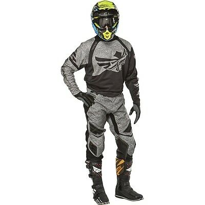 """New 34"""" L Adult Fly Evolution Clean 2.0 Jersey Pants Kit Heather Grey MX Sale!"""