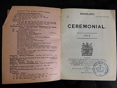 WW1 Officers HMSO CEREMONIAL Manual 1912
