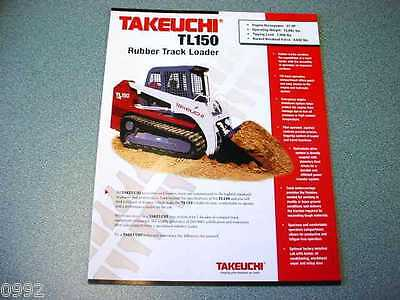 Takeuchi TL150 Rubber Track Loader Brochure