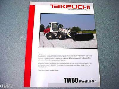 Takeuchi TW80 Wheel Loader Brochure