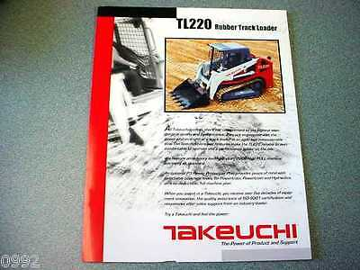 Takeuchi TL220 Rubber Track Loader Brochure