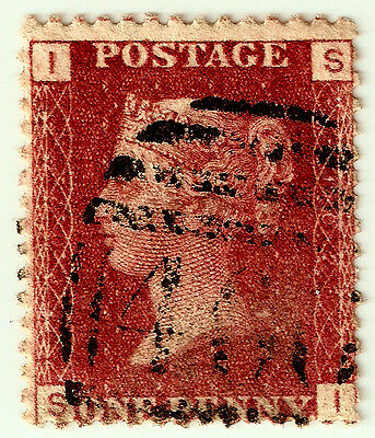 PENNY REDS 1d Stamp SG43 GB QUEEN VICTORIA Plate 102 SI PART CANCEL