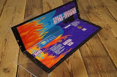Vintage Arcade Control Panel Plates Overlay SPACE-INVASION Videospielautomat