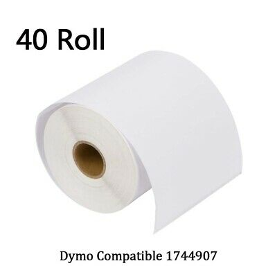 40 Rolls 220/Roll 4X6 Thermal Labels 1744907 Dymo 4XL Compatible - Free Shipping